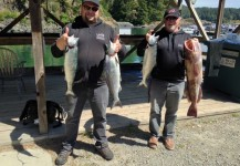 Salmon and a Ling Cod off BC Coast